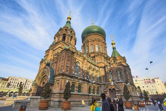 中国最美的40个旅游景点 – 黑龙江省哈尔滨市圣索非亚大教堂