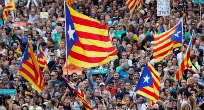 加泰罗尼亚抗议者使用加密通讯软件 协调抗议行动