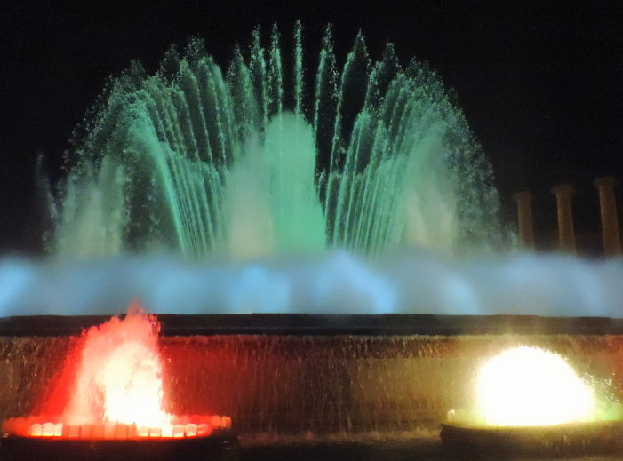 巴塞罗那魔幻喷泉