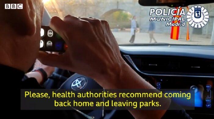 肺炎疫情:西班牙警方出动无人机执行限制令