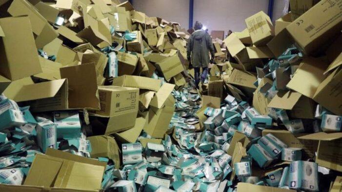逮捕五人 马德里警方在Fuenlabrada仓库区追回被盗的百万医用物资